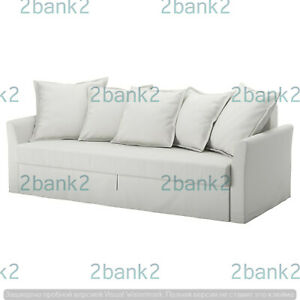 Ikea E New HOLMSUND 502.995.21 Sleeper Sofa 3 Seat Cover Slipcover RANSTA WHITE