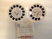 Numbers and Names 1962  2 Talking Viewmaster Reels Vintage AVB 4122 4123