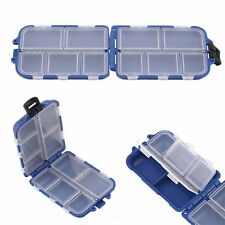 Compartments 10 Storage Case Fly Fishing Lure Spoon Hook Crank Bait Tackle Box