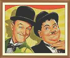 Laurel and Hardy Cross Stitch Chart  x 12.0 x 9.7Inches