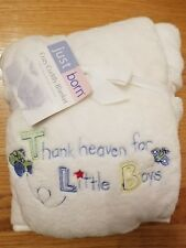 baby cozy cuddly blanket blue white