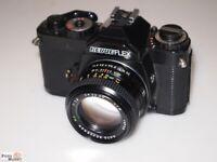 SLR Kamera Revueflex AC2 (PK-Bajonett) Objektiv Revuenon MC 1,4/50 mm Ø 49 lens