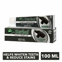 Dabur Herbal Tooth Paste (Activated Charcoal)100ml Dentifrice Charbon Actif 3pcs