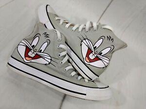 Converse Looney Tunes Bugs Bunny Grey 158234F High Top Shoe Men Size 8 Women 10