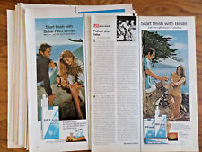 1970 1971 Belair Cigarettes Ad Lot of 16 Different Ads Couples Seaside