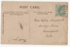 Miss Hilda Shacklock Bridge House Mansfield Nottinghamshire 30 Jun 1905 824b