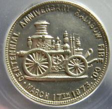 USA Reading PA 1873 RAINBOW FIRE CO TOKEN MEDAL ICG  MS 64
