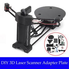 AU Open Source 3D Laser Scanner Adapter Object Plate For Ciclop 3D Printer Black