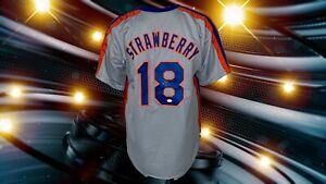 DARRYL STRAWBERRY AUTOGRAPHED CUSTOM NEW YORK METS JERSEY JSA AUTHENTICATED