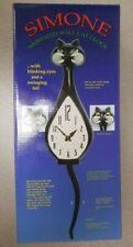 Dessousa Simone Animated Cat Standard Wall Clock - Black (63)