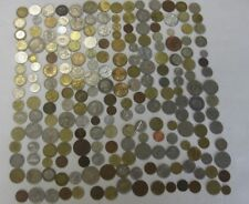 COLLECTION OF 200+ FOREIGN COINS, & USA, MIXED VALUE,