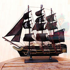 WOOD MODEL 50cm Length PIRATE SHIP Sailing Boat Corsair Tall Ship Nautical decor