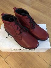 Nueva marca Josef Seibel Fabienne 4 Damas Bota Impermeable En Cuero Rojo UK 4/37