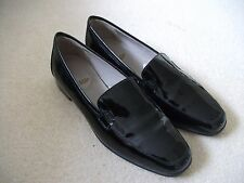 Baronessa Franchetti shoes size 5.5 black leather patent hand made in Italy, new