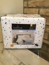 Cuddl Duds Flannel Full Sheet Set Outer Space Rockets New