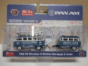VOLKSWAGEN T1 MICROBUS 15 WINDOW PAN AM 1:64 M2 MACHINES