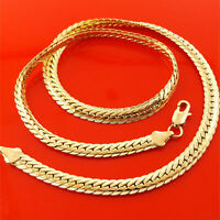 Gold Necklace Chains Men Women 18k Yellow White G/F Solid Link Antique Design
