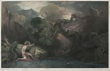 Lumb stocks-Apollo Killing the python-acero clave después de William Turner - 1860