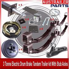 DIY 2500kg Electric Brakes Tandem Trailer Kit, Rocker Roller Springs