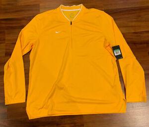 NEW Nike Men's 1/2 Zip Dri-FIT Pullover 1/4 Zip 908359-717 Yellow Gold XLarge XL