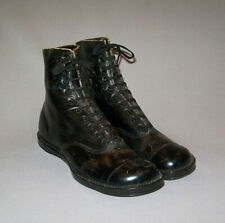 Old antique vtg 1900s Girls or Womens Leather Shoes Boots Small Size 1.5 Nice