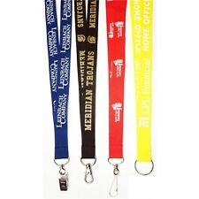 "Rush 100 Personalized 3/4"" High Quality Polyester Lanyards w/ Your Logo /Message"