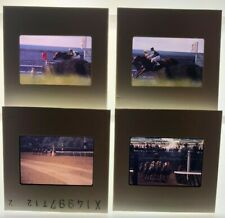 HORSE RACING 35mm slides lot of 4- transparencies  STEEPLECHASE and THOROUGHBRED