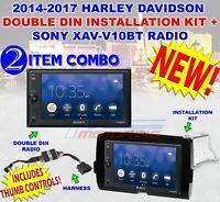 2014 - 2020 HARLEY DAVIDSON POLICE BIKES ONLY ADD THUMB CONTROLS SONY XAV-V10BT