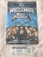 More details for wwe wwf wrestlemania 25 programme and ticket - hbk shawn michaels the undertaker