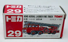 TOMICA TOMY #29 Hino Aerial Ladder Fire Engine Boxed