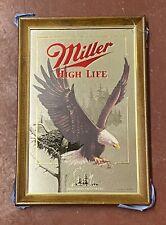 Nos Miller High Life Beer Bald Eagle Wisconsin Mirror Wildlife Series W/ Box