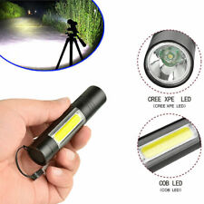 4 Mode CREE XPE+COB LED Camping Flashlight Zoomable LED Torch Light Lamp