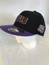 LSU Top of the World Black and Purple One Fit Flat Bill Basecall Cap