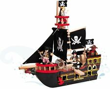 Le Toy Van Barbarossa Pirate Ship Wooden Budkins Boat Child/Toddler/Kid BNIB