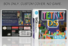NINTENDO DS : TETRIS DS. ENGLISH. COVER CUSTOM + ORIGINAL BOX. (NO GAME).