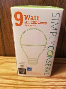 9 Watt A19 LED Light Bulb 9 Watt (60 Watt Equivalent) Dimmable