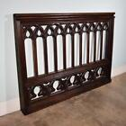 *Large Antique French Gothic Highly Carved Panel/Rail/Headboard in Oak Wood