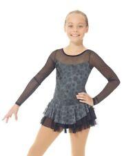 NEW Figure Skating Dress MONDOR Silver Glitter Mesh 669 Adult Medium