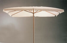 Parasol IN Wood 200x300 CM 2x3 MT Top White Pool Garden Sea