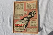Vintage Esman'S 1971 Order Sporting Goods Catalog Pitcairn, Pa