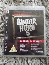 PS3 GAME - Guitar Hero 5  - FREE POST