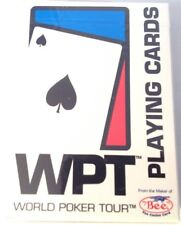 World Poker Tour WPT White BEE V1 Playing Cards USA Made - NEW SEALED!