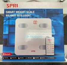 SPRI SMART Bluetooth Glass WEIGHT SCALE BALANCE INTELLIGENT Body BMI BMR Tracker