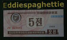 Korea North 5 Chon  1988 UNC P-24