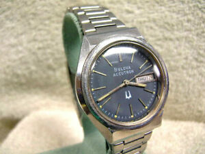 Vintage All Original Accutron 218 Day-Date New Old Stock bracelet Just Serviced