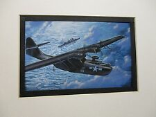 Consolidated PBY Monogram  Model Airplane Box Top Art Color  artist G2