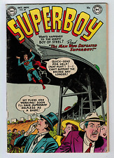 Superboy #28 5.0 1953 Off-White Pages