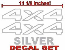 4x4 Truck Bed Decals, SILVER (Set) for Dodge Ram or Dakota