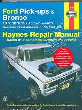 1973 74 75 76 77 78 79 FORD PICK-UPS & BRONCO SHOP MANUAL-6 CYL/V8-F100-F-350