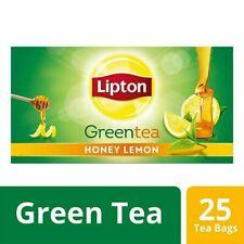 Lipton Honey Lemon Green Tea Bags, 25 Pieces FREE SHIPPING
